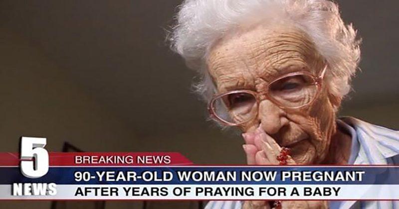 כנגד כל הסיכויים אישה בת 90 נקלטה להריון