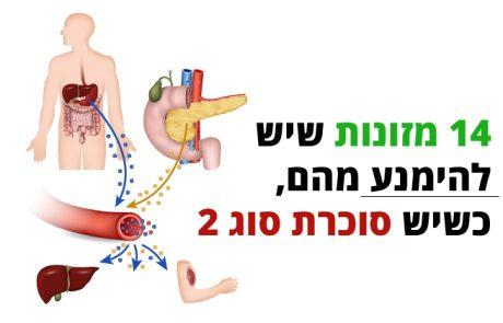 סוכרת סוג 2, אלה המזונות שיש להימנע מהם