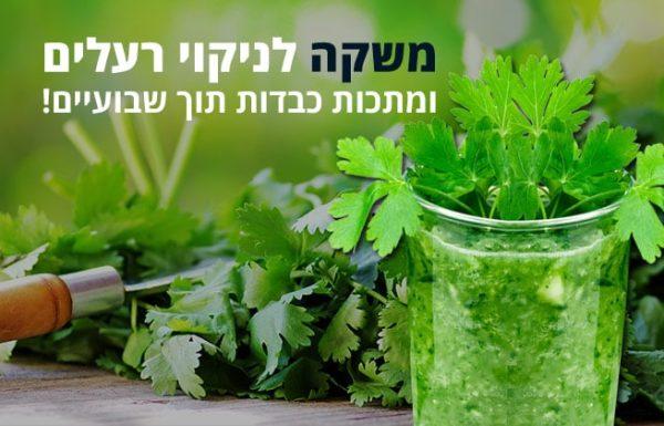 משקה טבעי לניקוי רעלים ומתכות כבדות תוך שבועיים