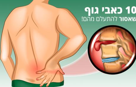כאב בגוף – 10 סוגים שאסור להתעלם מהם