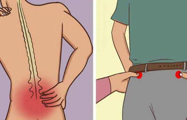 נקודות  לחיצה GB30 ו- B48  להקלה על כאבי גב