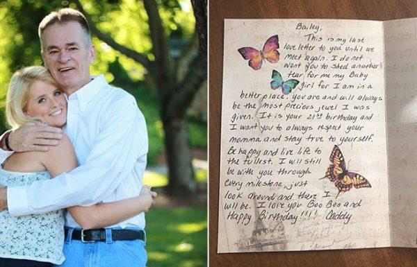 אבא שולח פרחים ליום ההולדת של ביתו לאחר מותו