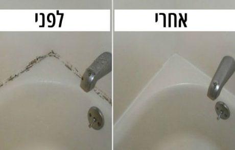 הדרך הפשוטה ביותר לנקות את העובש מהחריצים של האמבטיה