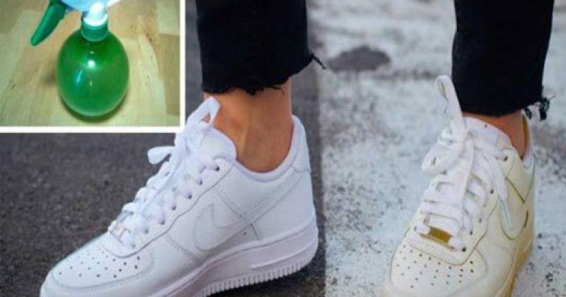 כך ניתן לנקות את הנעלים הלבנות בעזרת טריק פשוט… לא האמנו שזה אפשרי!